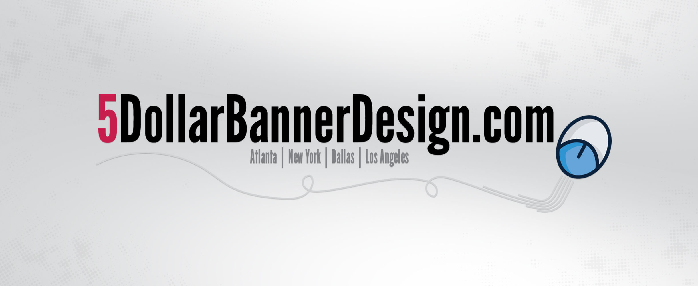 5 dollar banner design logo
