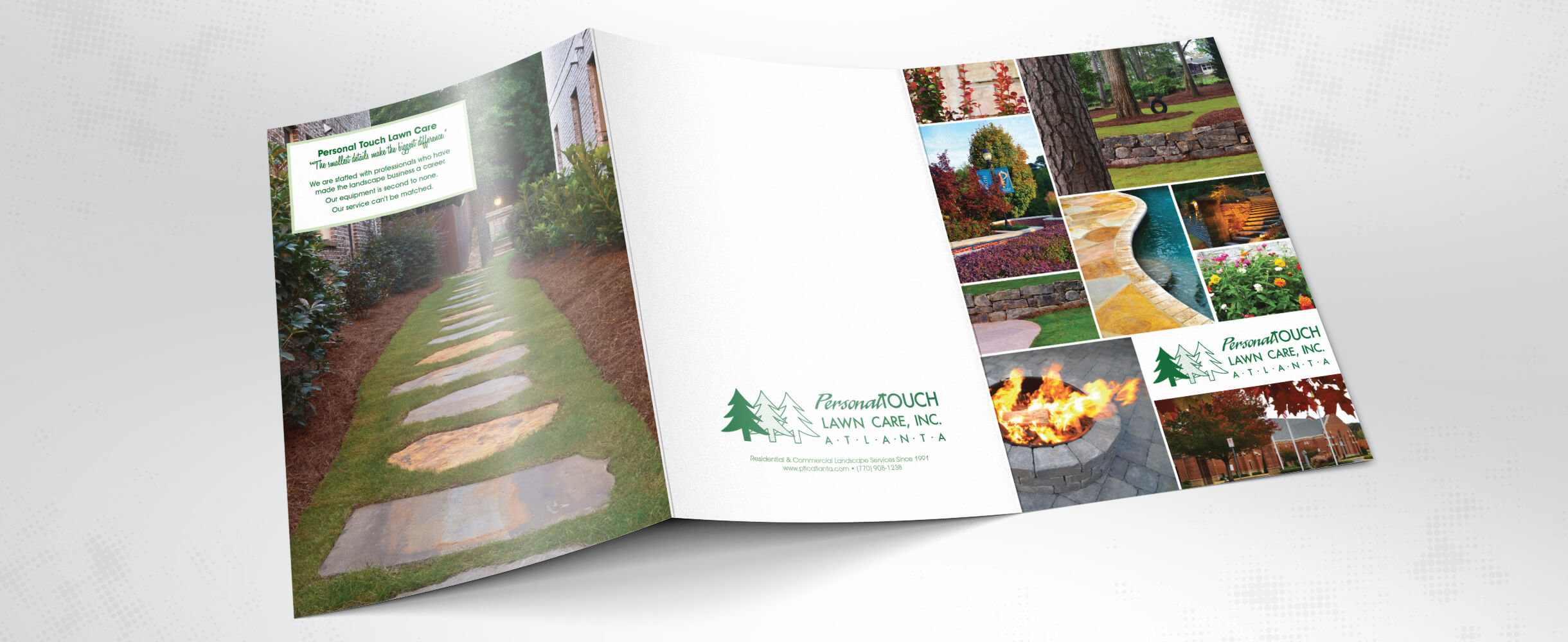 Personal Touch Lawn Care Atlanta brochure